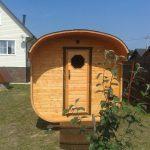 Square barrel sauna