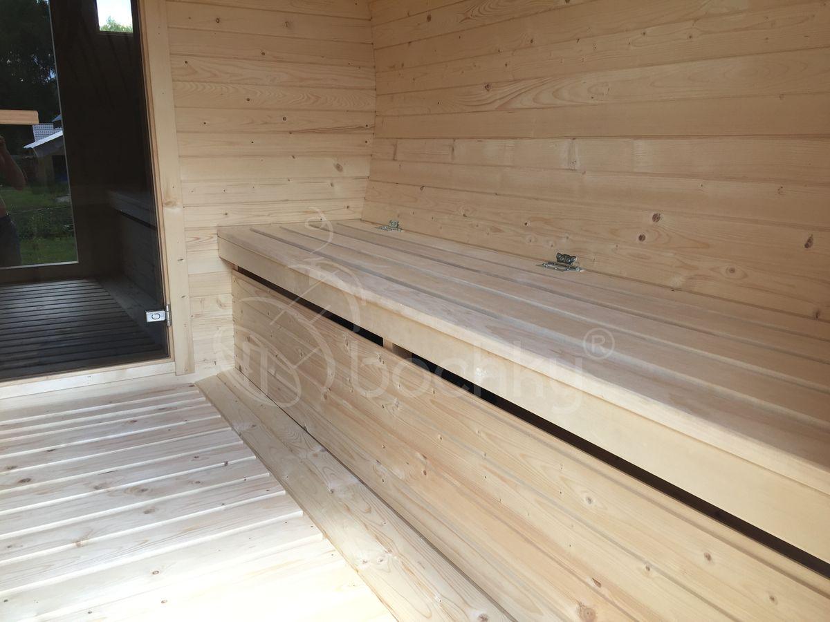 Баня октабочка Мега-2 комната отдыха