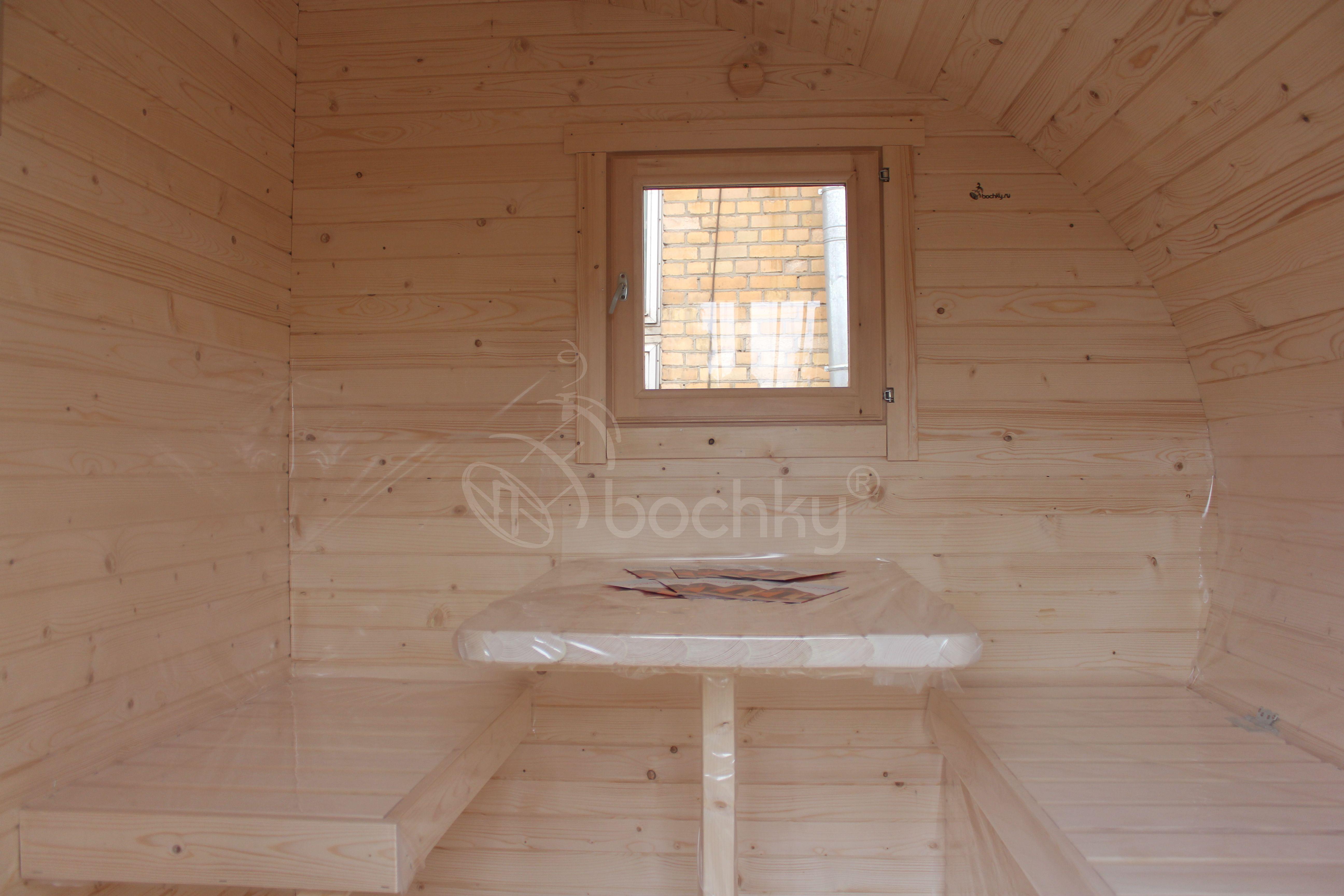 Баня овалбочка внутри