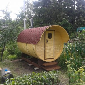 Barrel Sauna Standart with overhang