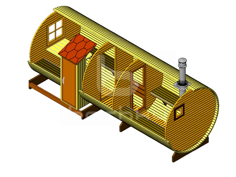 "Barrel sauna ""Exclusive-SV"""