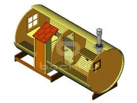 """Barrel sauna """"Mega-2-SV"""""""