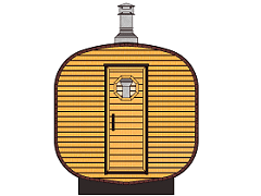 Square barrel saunas