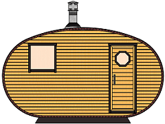 Oval barrel saunas